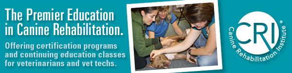 Canine Rehabilitation Institute ad